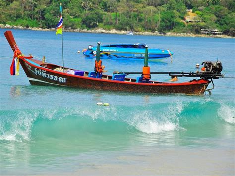 beautiful wooden boat  thailand longtail boat diy