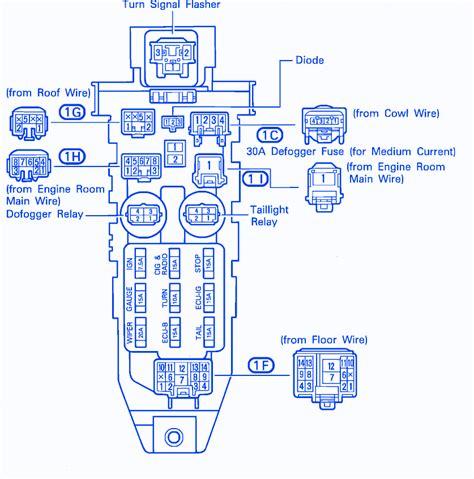 1990 Camry Radio Wiring by Toyota Celica 1990 Fuse Box Block Circuit Breaker