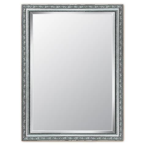 silver bathroom mirror lowes shop style selections 29 in x 41 in silver rectangle
