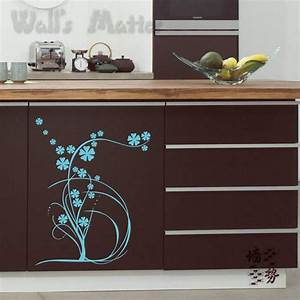 Kitchen cabinet decals roselawnlutheran for Kitchen cabinets lowes with modern wall art stickers