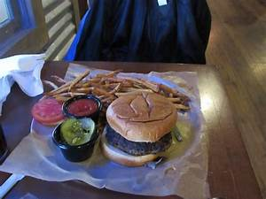 dry burger with stale bun - Picture of Fightingtown Tavern ...
