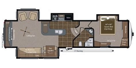 montana fifth wheel floor plans 2012 2012 keystone rv montana big sky fifth wheel series m 3665