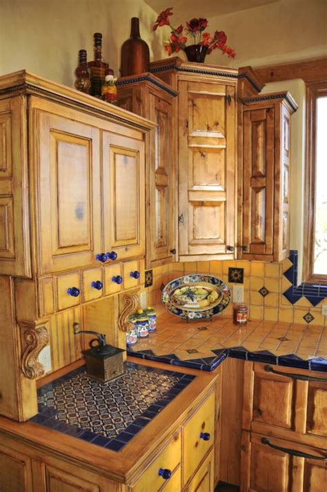 southwest style kitchen cabinets mexican style kitchen talavera tile southwest living 5622
