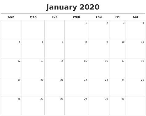 october monthly calendar template