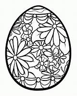 Coloring Easter Egg Pages Detailed Print Popular sketch template