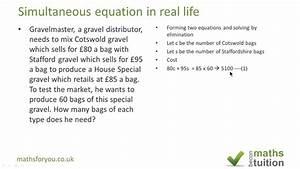 Simultaneous Equations Practice Questions Gcse