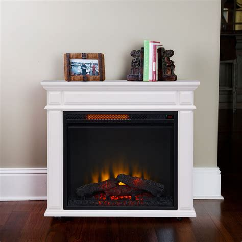electric heater fireplace caiden infrared electric fireplace heater in white cs