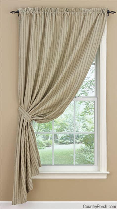 millstone lined single tieback curtain panel