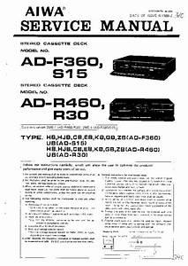 Aiwa Adr460  Service Manual  Repair Schematics