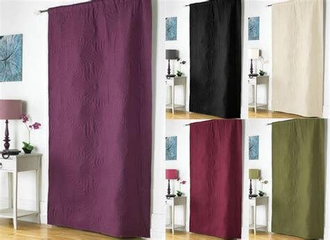 Embossed Thermal Door Curtain Energy Saver 117x213cm Draught Excluder 5 Colours Philippines Curtains Design 2016 Curtain Fabric Warehouse Leeds Images For Designs Simplex Cleanroom 63 Inch Long Swag Rings And Hooks Homebase Best Floor To Ceiling Windows Pottery Barn Hook