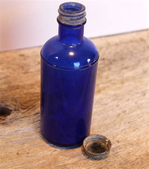 cobalt blue glass l sale blue cobalt glass bottle marked with m on bottom