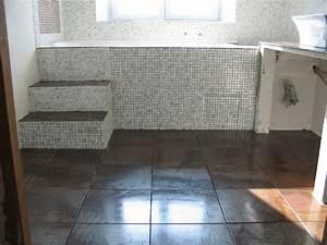travaux salle de bain With carrelage mosaique sol salle de bain