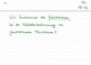 Punktsymmetrie Berechnen : substitution bei der nullstellenbestimmung richtig anwenden lernwerk tv ~ Themetempest.com Abrechnung