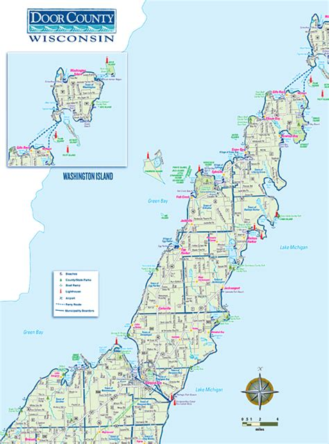 map of door county wi steveandamysly 187 the weblog of steve and