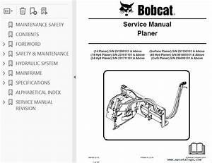 Bobcat 14  18 Hyd  24 Hyd  Surface  40 Hyd  Curb Planers Pdf