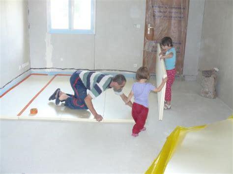 pose de polystyrene extrude pour chauffage au sol notre maison