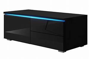 Schrank Mit Tisch : tv schrank lowboard sideboard tisch m bel board luv single mit led schwarz matt schwarz ~ Orissabook.com Haus und Dekorationen
