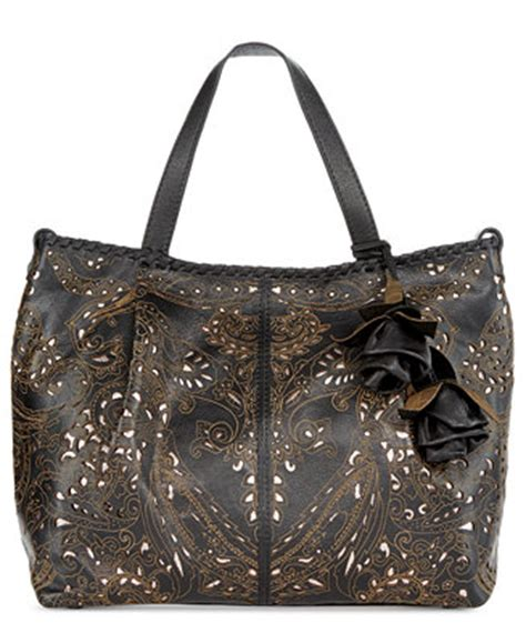 patricia nash laser lace zola top zip satchel handbags