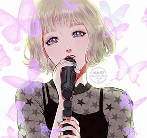 Black Haired Anime Girl Singing Pictures to Pin on ...