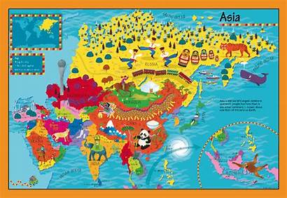 Asia Map Children Childrens Personalised Cosmographics Maps