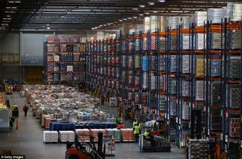 warehouse shopping online sainsbury s waltham point depot gears up for daily mail