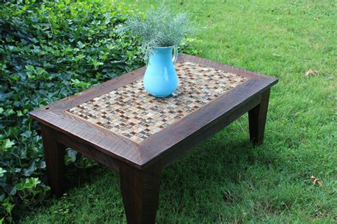 made coffee table glass tile mosaic