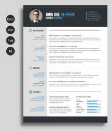 free modern resume templates docx free ms word resume and cv template free design resources