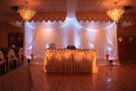 Wedding Reception Decor Ivory Drape Satin Backdrop