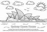 Opera Sydney Colouring Australian Icon Silverkris Exploring Australia sketch template