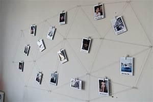 Fotos Aufhängen Schnur : polaroid fotos deko basteln gestalten 17 gute laune ideen wohnen fotowand gestalten ~ Watch28wear.com Haus und Dekorationen