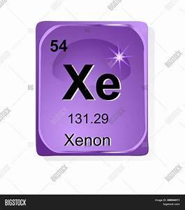 Xenon Chemical Element Atomic Vector & Photo | Bigstock