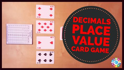 decimal place   playing cards games  gains