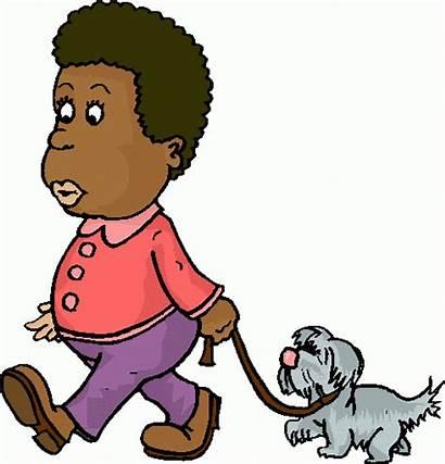 Walking Dog Clipart Walk Clip Boy Cliparts