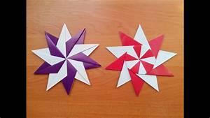 Origami Stern 5 Zacken : how to make an origami star youtube ~ Watch28wear.com Haus und Dekorationen
