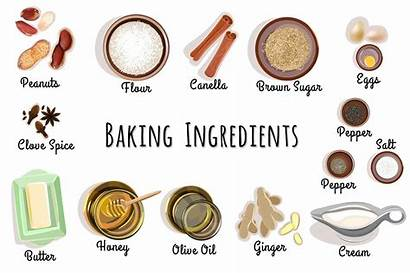 Baking Ingredients Icons Cooking Things Know Must
