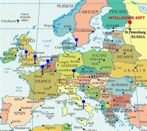 political maps  western europe  travel information