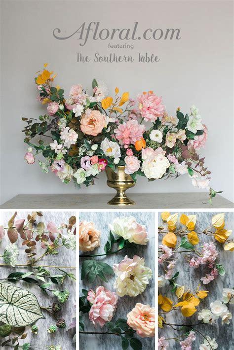 faux flower arrangement diy wedding faux