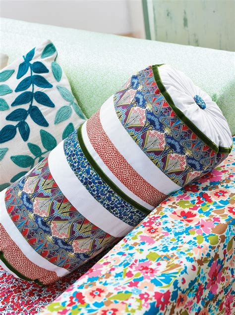 liberty print bolster cushion  sewing patterns sew