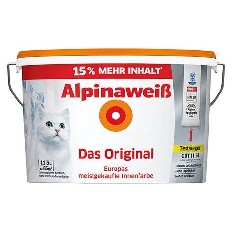 alpina spritzfrei weiss alpina alpinawei 223 dispersionsfarbe das original 11 5 l matt bauhaus