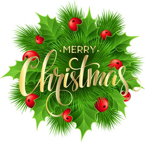merry clipart merry pine decoration png clip image