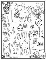 Coloring Market Farmers Maine Printable Federation Syrup Maple Markets Snapshot Week Drawing Popular sketch template