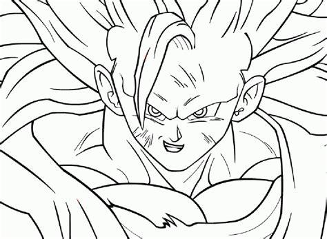 Plantillas de Goku en fase 3 para recortar y dibujar