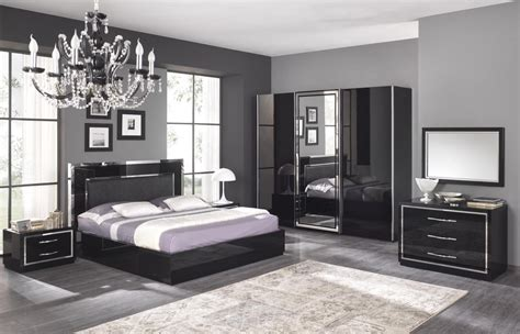 d oration chambre adulte chambre adulte complète design stef coloris noir laqué