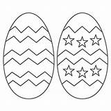 Easter Coloring Egg Pages Printable Eggs sketch template
