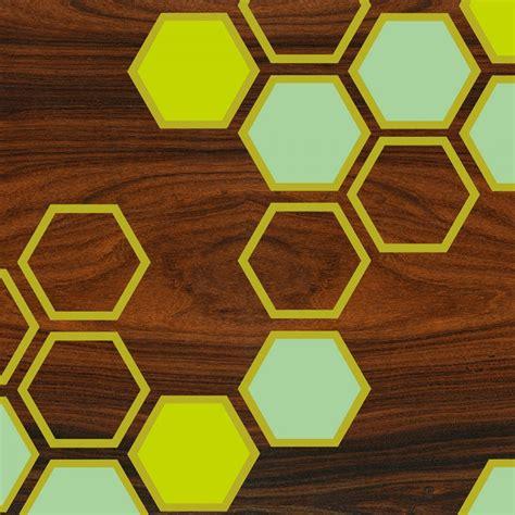 green honeycomb pattern geometric art print - jefdesigns