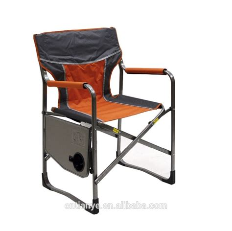 chair with side table aluminium folding director chair with side table attached