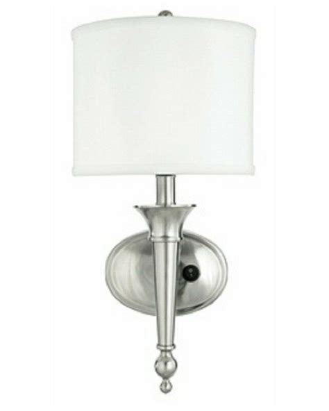 unique brushed nickel wall sconce  shade ebay