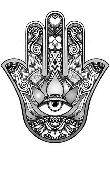 I like the thumb tips | Hamsa hand tattoo, Hand tattoos, Hamsa tattoo