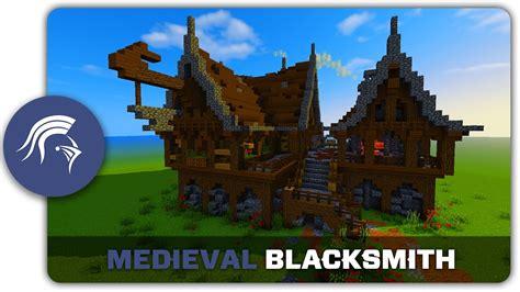 minecraft building tutorial   build  medieval blacksmith youtube