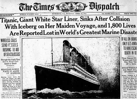 titanic newspaper article the times dispatch richmod va